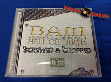 Bam Rough Bible Vol. II Hell On Earth Screw Chopped Texas Rap CD Piranha Records