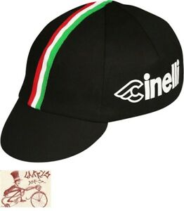 PACE SPORTSWARE CINELLI BLACK CYCLING CAP--ONE SIZE