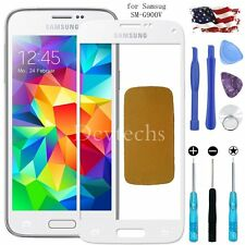 White Front Glass Lens Screen Replacement for Samsung S5 SM-G900V Adhesive Tools