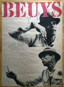 Joseph Beuys, Ausstellungsplakat, »Galerie Kammer, Drucksignatur, 1981, Rarität