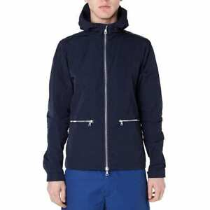 Mens Norse Projects Bjorn Light Water/Wind Resistant Navy Blue Jacket Size MED