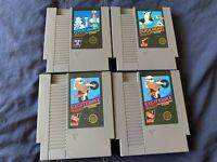 Lot Of 4 Nintendo NES 5 Screw Games Excitebike Gyromite Duck Hunt Famicom Conv