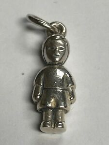HTF James Avery Retired 925 3D Boy Charm