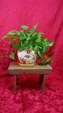 Small Wooden Milking Stool Plant Stand Step Stool Primitive  Vintage Original