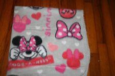 RARE Disney Minnie gray peek-a-boo  love hair bow baby blanket