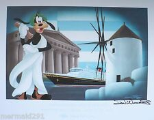 DISNEY CRUISE LINE-DCL-DON DUCKY WILLIAMS 1ST GREECE CRUISE W/GOOFY *SIGNED*