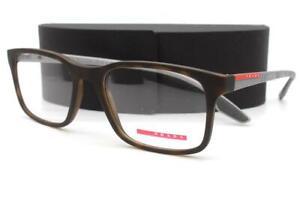 Prada Sport VPS01L Eyeglasses Matte Havana Silver U61-1O1 Authentic 54mm