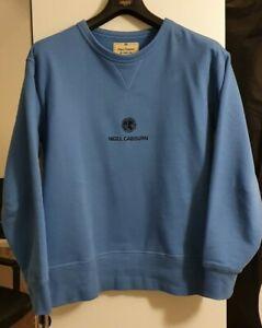 Nigel Cabourn The Army Gym Sweatshirt Blue Small Oi Polloi End Fits like Large