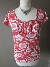 Cotton Short Sleeve Floral Petite Tops & Shirts for Women