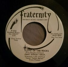 Jimmy Dorsey Orchestra promo 45 Love on the Rocks Under a Texas Moon Fraternity