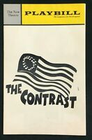 BOSTON PLAYBILL - Oct 1972 - THE CONTRAST (The First American Comedy 1787) -  b4