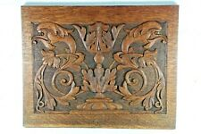 More details for a beautiful antique black forest hand carved wooden panel decorative item