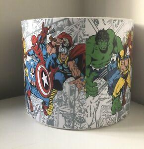 Marvel Avengers White  handmade ceiling drum lampshade / boys room