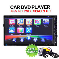 """7"""" 2DIN Touch Car Stereo MP3 CD DVD Player Bluetooth FM Radio + Rearview Camera"""