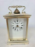 Howard Miller 613-132 Battery Operated Quartz Mantle Desk Brass Finish Clock