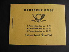 GERMANY DDR complete booklet with 330c, 333a, 477b check it out!