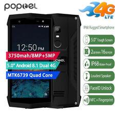 Indistruttibile 5'' Poptel P8 4G Telefono 16GB Smartphone TOUCH ID NFC 8-MP 2SIM