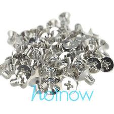 100 pcs M4 x 6mm Countersunk Flat head screws Nickel-plated