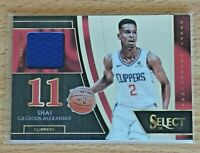 2018-19 Panini Select Draft Selctions Shai Gilgeous-Alexander RC Patch Clippers