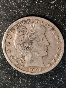 1899-O New Orleans Mint Silver Barber Half Dollar Ch F-VF