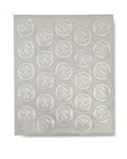 Sticker Seals - Foil Silver Hearts x 25 qty