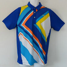 nwt~Puma Golf DUO SWING CHEVRON Polo UPF PROTECTION Shirt COOL MAX  top~Men sz S
