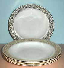 Vera Wang Wedgwood Vera Filigree Gold SET/4 Rim Soup Pasta Bowl(s) NEW