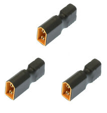 Apex RC Products No Wire Female Ultra T Plug -> Male XT60 Adapter - 3 Pack #1253
