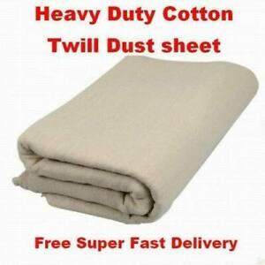 HEAVY DUTY BOLTON TWILL DUST SHEET 15' x 18' ft (4.5m x 5.4m) CANVAS DROP CLOTH