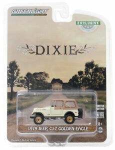 """Greenlight Hobby Exclusive 1979 Jeep CJ-7 Golden Eagle """"Dixie """""""