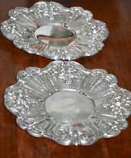 Pair Reed & Barton Francis 1 Sterling Silver Underplate Platters X569 11.5""