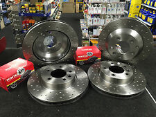 PORSCHE BOXSTER 2.5 2.7 FRONT REAR CROSS DRILLED BRAKE DISCS FRONT REAR