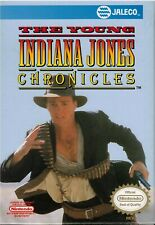 The Young Indiana Jones Chronicles NES (Game, Box, Manual)