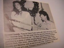 Celine Dion works with David Foster 1993 music biz promo pic with text