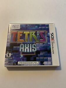 Tetris Axis (Nintendo 3DS) Game, Case, & Booklet