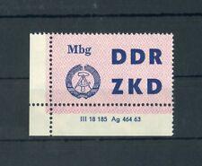 DDR-ZKD Nr.10 DV2 ** ECKRANDSTÜCK DRUCKVERMERK !!! (117017)