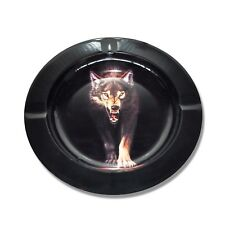 Wolf Metal Cigarette Cigar Animal Ashtray