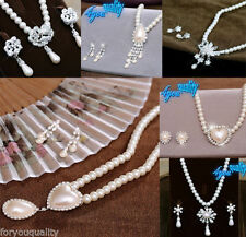 Simulated Alloy Crystal Costume Necklaces & Pendants