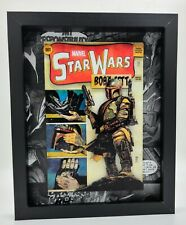 8x10 Framed Star Wars Marvel Boba Fett Shadow Box 3D Comic Book Art