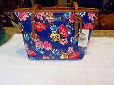 NWT Nine West It Girl Tote Blue Multi/Tobacco Floral Handbag Purse