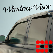 02-06 CHEVY AVALANCHE SIDE WINDOW VISOR SUN SHADE RAIN GUARD WIND DEFLECTOR 4PCS