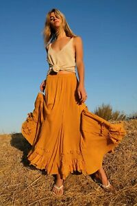 Free People cypruss maxi Skirt Size xs 8/10 new  taupe