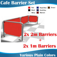 Cafe Barrier Set 2x2m+2x1m Coffee Barriers with plain color banners Silver Frame
