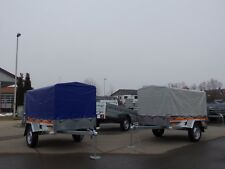 Pkw Anhänger Tema - 750 kg - 2,01x1,07 m - inkl. Plane/Gestell Farbe: Blau NEU