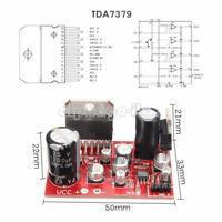 38W+38W TDA7379 Stereo Amplifier Board w/ DC 12V AD828 Preamp super than NE5532