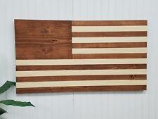 AMERICAN FLAG THEME WOODEN WALL MOUNT ART DECOR USA PATRIOTIC DECORATIVE MURAL