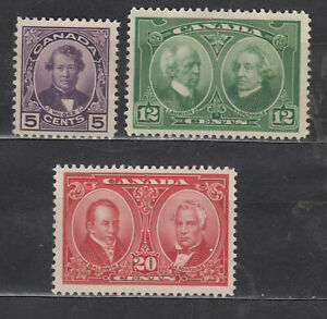 1927 #146 5¢ #147 12¢ & #148 20¢ ISSUE F-VFNG COMPLETE SET