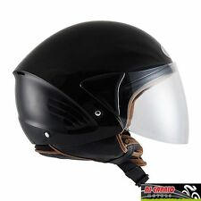 CASCO scooter DEMI JET KYT by Suomy mod COUGAR varie taglie nero lucido black