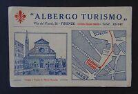 Ancienne carte de visite HOTEL ALBERGO TURISMO FIRENZE Galasso