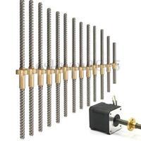 3D Printer 8mm Lead Screw Rod Z Axis Linear Rail Bar Shaft 100 to 600mm +Nut
